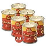 Ner Mitzvah 1 Day Yartzeit Candle - 6 Pack - 24 Hour Kosher Yahrtzeit Memorial and Yom Kippur Candle in Tin Cup Holder
