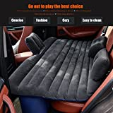 FBSPORT Ablevel Car Travel Inflatable Mattress Flocking Air Bed Camping Universal SUV Back Seat Couch (Black 2)