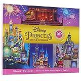 Disney Princess Cinderella, Rapunzel, Mulan and More! - Castle Cutaways Sound Book - See and Hear Inside Princesses' Magical Castles 10 Maps + 60 Sounds