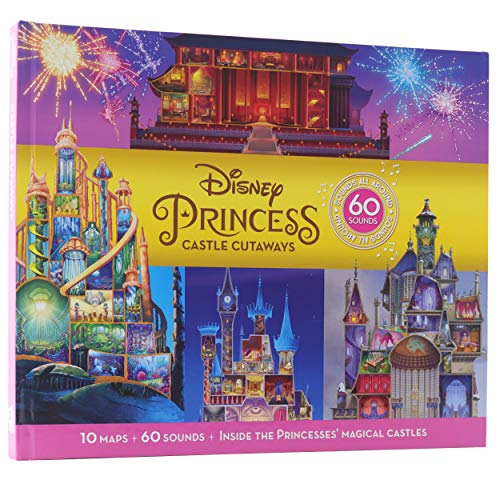 Disney Princess Cinderella, Rapunzel, Mulan and More! - Castle Cutaways Sound Book - See and Hear Inside Princesses' Magical Castles 10 Maps + 60 Sounds
