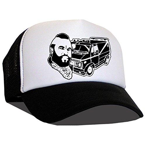Bastart Caps Raphia type casquette en maille classique B.A./MR T/A équipe de Black