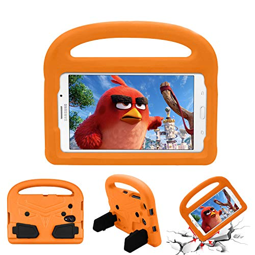 Cookk Kids 8.0 Inch Case for Samsung Galaxy Tab 4 8.0 Tablet 2014(T330), Galaxy Tab E 8.0 2016(T375/T377/T378), Galaxy Tab A 8.0 2017(T380/T385), Galaxy Tab A 8.0 2018 Case Handle (T387), Orange