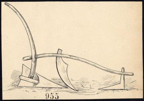 Dibujo de edad ThePrintsCollector antiguo arado-artículo 95