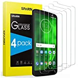 SPARIN 4 Pack Screen Protector Compatible with Moto G6, Tempered Glass, Easy Installation, Bubble Free
