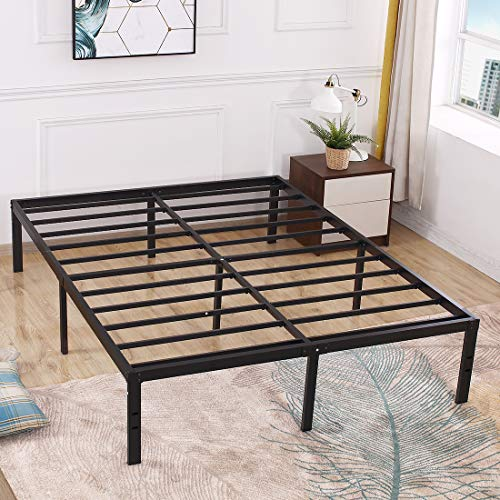 TATAGO 3000lbs Max Weight Capacity 16 Inch Tall Heavy Duty Metal Platform Bed Frame Mattress Foundation, Extra-Strong Support &Non-Slip, No Noise & No Box Spring Need for Saving Money, King