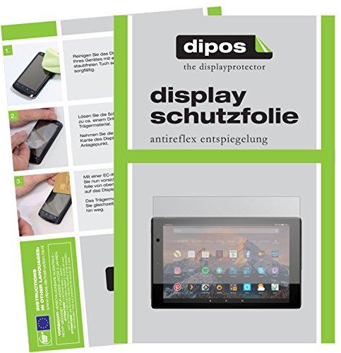 dipos I 2X Schutzfolie matt kompatibel mit Amazon Fire HD 10 (2019) Folie Bildschirmschutzfolie
