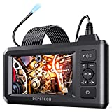 DEPSTECH Industrial Endoscope, 5.5mm 1080P HD Digital Borescope Inspection Camera 4.3 Inch LCD Screen IP67 Waterproof Snake Camera with 6 LED Lights, 16.5FT Semi-Rigid Cable,32GB Card and Helpful Tool