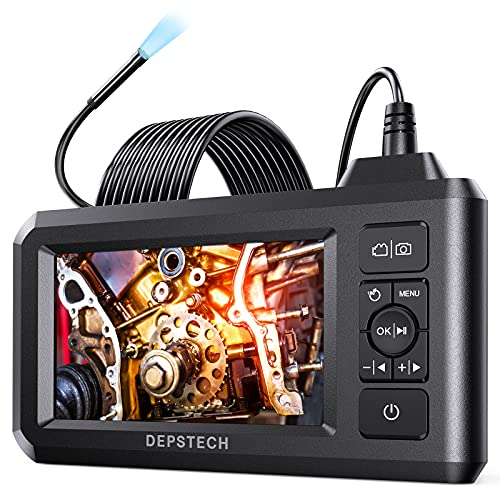 DEPSTECH Industrial Endoscope, 5.5mm 1080P HD Digital Borescope Inspection Camera 4.3 Inch LCD...