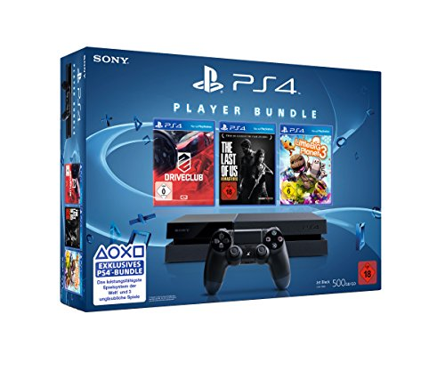 PlayStation 4 - Konsole (500GB) inkl. DriveClub, Little Big Planet 3 und The Last of Us: Remastered [CUH-1116A]