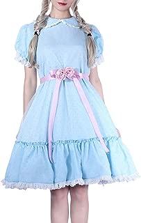 Lolita Dress Blue Chiffon Dress Puff Sleeve Halloween Party Cosplay Costume
