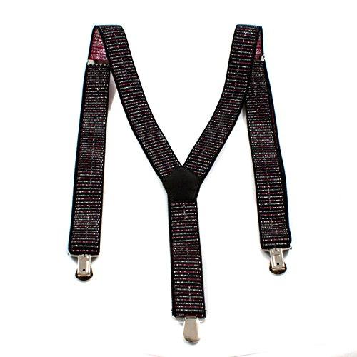 1buy3 Hosenträger Streifen - Glitter  Unisex   Y-Form   Männer & Frauen   3 Clips   ab 6 Jahren verstellbar   über 28 Modelle