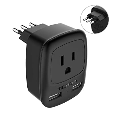 Italy Travel Power Adapter, TESSAN US To Italy ...