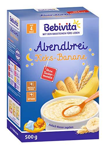 Bebivita Abendbrei Keks-Banane - nach dem 4. Monat, 3er Pack (3 x 500g)