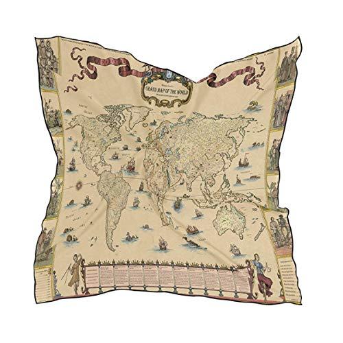 Alte Bücher auf Bücherregal in Bibliothek Schal Womens Square Seidenschals Schal Wrap Halstuch für Lady Girls Trend 254