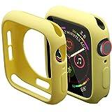 Mimall Funda Compatible con Apple Watch Series 5/4 40mm, Bumper Case Anticaída para iWatch, Suave Flexible TPU Funda Protectora Slim para Apple Watch Series 5/4 40mm - Amarillo