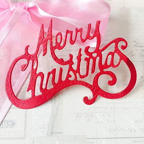 Christmas Dies for Card Making,Merry Christmas Die Cuts Metal Cutting Dies Embossing Dies for Scrapbooking DIY Album Paper Cards Art Craft Decoration 2.96x2.0inch