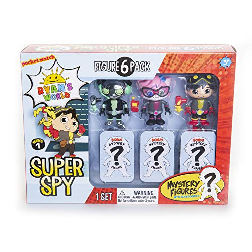 RYAN'S WORLD 6 Pack Super Spy Figures - Amazon Exclusive