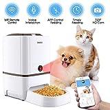 6 Litros Comederos Automaticos Gatos Con Cámara Iseebiz Comedero Automatico Perro Wifi /Controla por APP /6 Dosis de Comida por Día