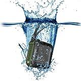 Trendwoo Wasserdicht Bluetooth V4.0 Lautsprecher IPX5 Stereo Tragbar für Sport Armeegrün