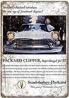スチュードベーカー-パッカードクリッパー車錫サイン壁の装飾金属ポスターレトロプラーク警告サインオフィスカフェクラブバーの工芸品