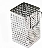 Small Kitchen Utensil Chopsticks Perforated Holder with Hooks - Stainless Steel - Dishwasher Safe - Small...