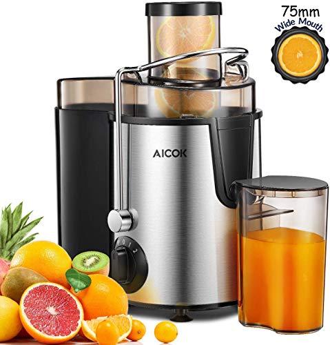 🍊【AICOK Licuadora para Verduras y Frutas】 ¿Por qué no elegir la marca AICOK en American Juicer Maket (TOP 1) ??? LFGB El acero inoxidable sin BPA aprobado por la FDA para alimentos, filtro de línea de 5 capas, siempre sigue primero el principio de sa...