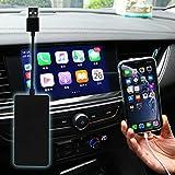 inalámbrico Carplay dongle USB con cable Android Auto Support ios13-14 Pantalla dividida SIRI Control de voz Google Waze Mapas solo funciona con la pantalla del sistema Android (APK)(negro)