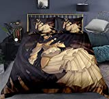 Dmxiezib Conjunto de 3 piezas adolescentes y fan del animado del hogar Ropa de cama, Overlord: Albedo, 100% microfibra con cierre de cremallera, japonesa de anime personajes en 3D Imprimir 1 funda nór
