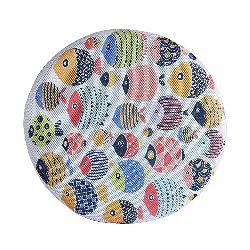 Cojín de dibujos animados para niños – Cojín redondo con estampado de peces colorido con núcleo interior, suave y transpirable para habitación de estudio, como se muestra, 42 x 5 cm