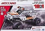 Meccano Erector, 10 in 1 Model Race Truck Building Set, 225...
