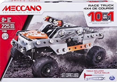 MECCANO - 4X4 SUV DE COURSE 10 MODÈLES - 10 Modèles Différents de Véhicules à Construire à l'Infini - Jeu De Construction - 6036038 - Jouet Enfant 8 Ans et +