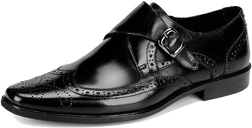 Zapatos De Cuero para hombres Negocios Inglaterra zapatos Casuales para Bodas Cómodo Y Transpirable Wearable