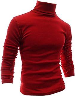 Nuofengkudu Mens Slim Fit Lightweight Long Sleeve Pullover Top Turtleneck T Shirt Blouse