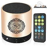Siruiku Quran Audio Lautsprecher mit Micro Speicherkarte, 8 GB, FM TF & Fernbedienung, goldfarben