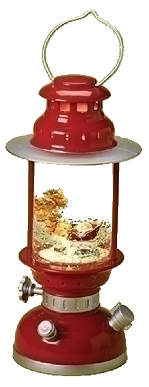 Vintage Engine Red LED Light-up 10.5 inch Christmas Glitterdome Figurine
