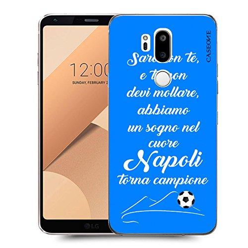 CASEONE® Cover in Gomma TPU Saro con Te Napoli Celeste per LG G7