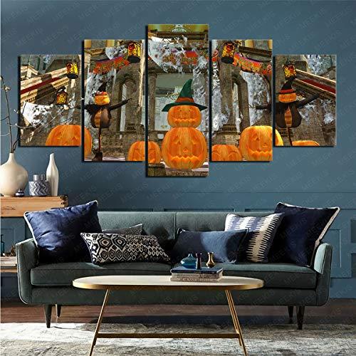 mmkow Imagen Impresa en Lienzo Juego de 5 Piezas Videojuego Dead or Alive 5 Fotos Decoración del hogar Decoración del hogar 50x100cm (Marco)