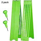4 líneas 28 celdas Braille Pizarra Braille Escritura Pizarra Plástico Braille Pizarra Kit, Verde (2)