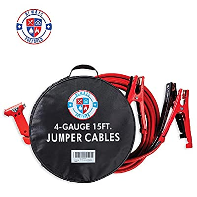 4 Gauge Jumper Cables with Carry Bag - Premium Heavy Duty Jumper Cables & Roadside Assistance Auto Emergency Kit - Exclusive Roadside Assistance Booster Cables 400 AMP - Gifts for New Car