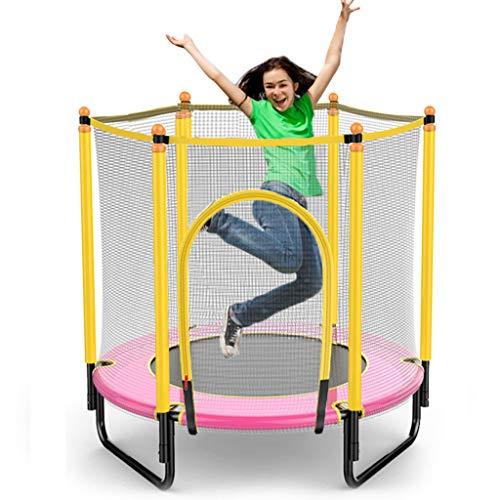 LXXTI Trampoline for Kids Indoor, 4Ft with Safety Net Enclosure, Indoor Outdoor Children'S Activity Junior Trampoline, Ultra Quiet Mini Baby Trampoline,Pink