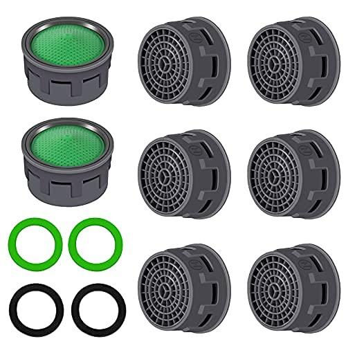 10 unidades de aireador de grifo con junta, 21 mm de repuesto para el baño o la cocina