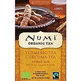 Numi Teas Organic Turmeric Tea Amber Sun Tea Bags, 12 Count
