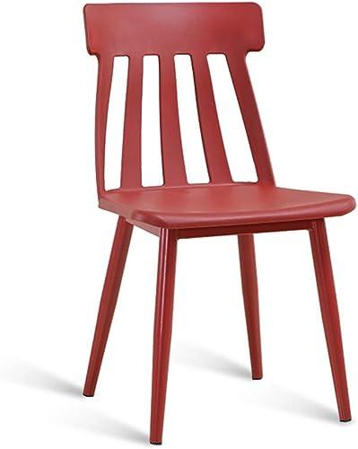Chaise Fauteuil Siège Chaises Chair Chaise De Maquillage en Plastique à Choix De Couleurs Multiples ZHANGAIZHEN (Couleur   rouge)