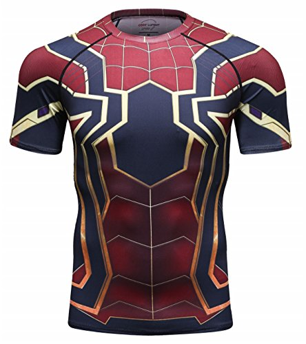 Cody Lundin Herren Enges Fitness Shirt Atmungsaktives Comic Shirt Männliches Sport T-Shirt für Männer Running T-Shirt (Color-a, L)