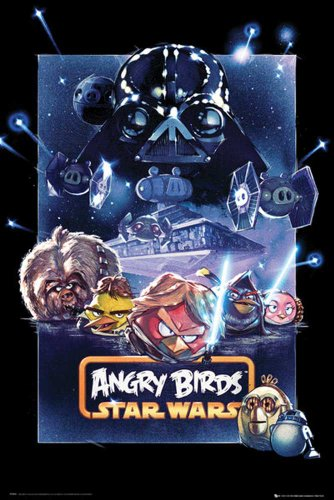 Empire 554413 Angry Birds - Star Wars - Battle - Poster afdrukken videospel 61 x 91,5 cm