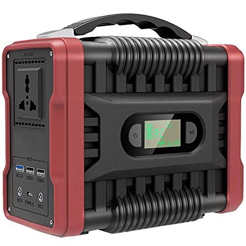 LOVEHOUGE Generador Portátil, Central Eléctrica De 222 WH con Salida De CA De Onda Sinusoidal Pura, Puertos USB De CC, para Emergencias Al Aire Libre