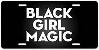 ETonmars Black Girl Magic License Plate Cover Customizable Aluminum Metal License Plate Cover for Auto Cars, Car Tag Sign 12 x 6