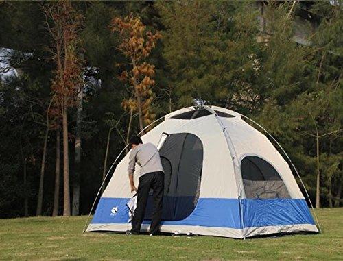 MUYUNXI Anti-muggen 5 6 wild multiplayer stapelbed outdoor camping tent regen en zon outdoor tent Double Set dfa Camping Tent