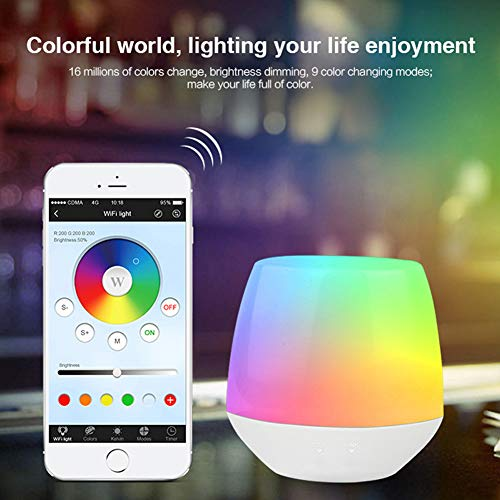 PElight Durable multifunctionele bureaulamp Smart Night Light WiFi bediening dimmer LED tafellamp afstandsbediening RGB dimbare tafellamp - App Ios/Android (DC5V)