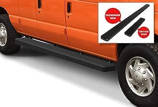 APS iBoard Running Boards 6 inches Matte Black Custom Fit 1999-2014 Ford Econoline Full Size Van (Nerf Bars Side Steps Side Bars)